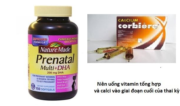 vitamin tổng hợp và calci dạng uống